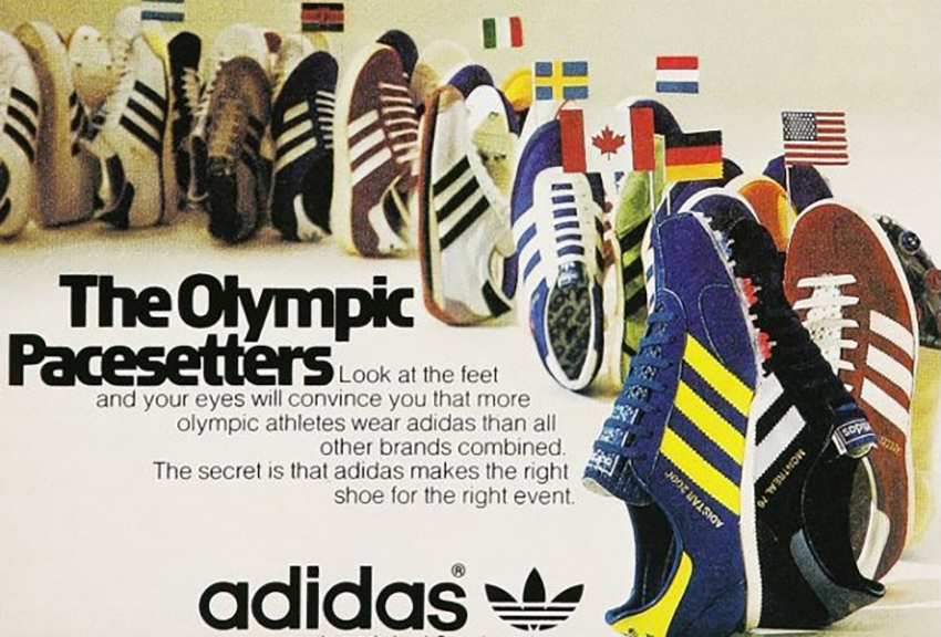 an analysis of adidas addvertisement the olympic pacesetters