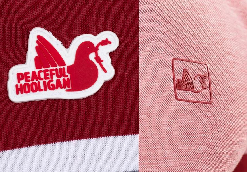 Поло «Peaceful Hooligan» логотип