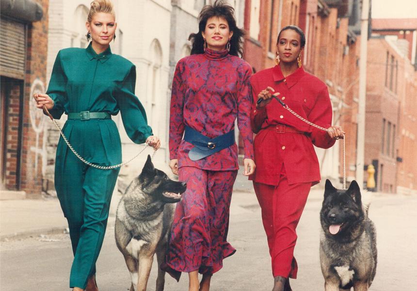 Женская мода 80-х