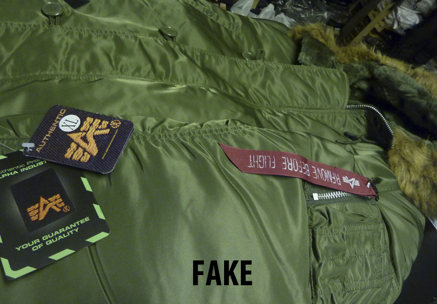 fake or original «Alpha Industries»
