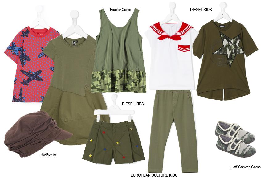 Детская одежда в стиле милитари