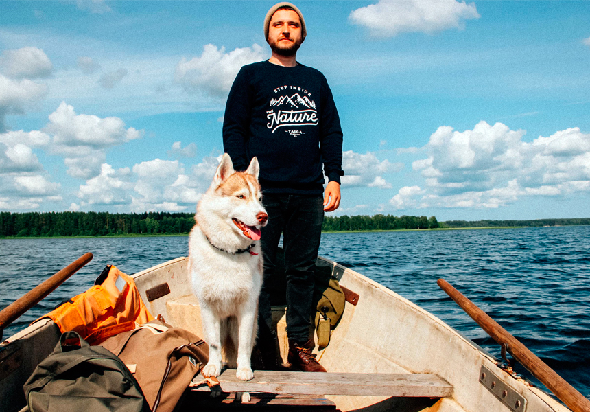 Страсть к природе, энергетика Севера, увлечение путешествиями и любовь к хаски в одежде российского бренда «Тайга»