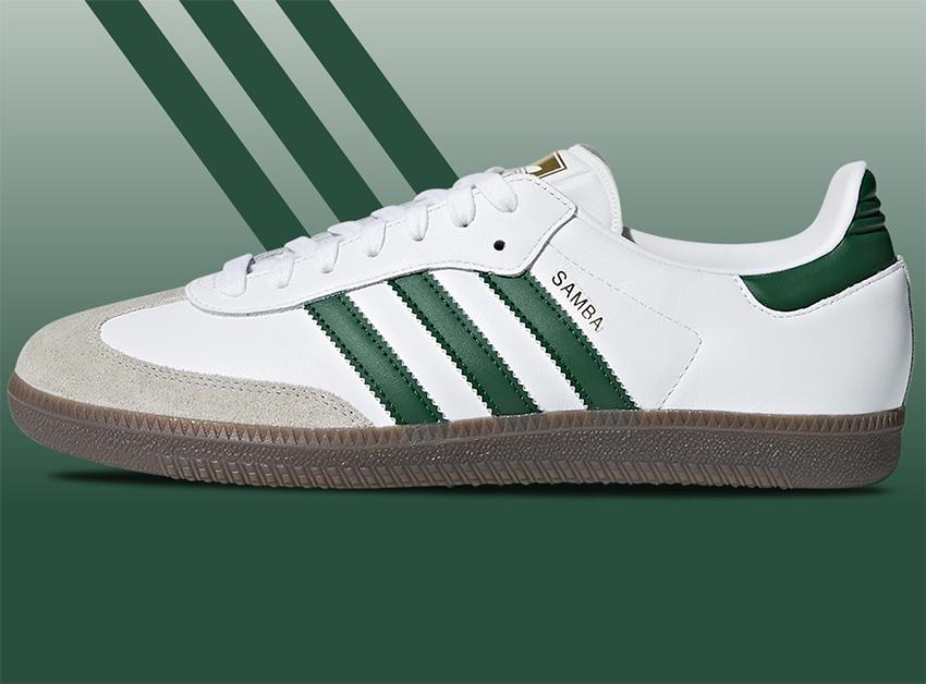 samba белые с зеленым