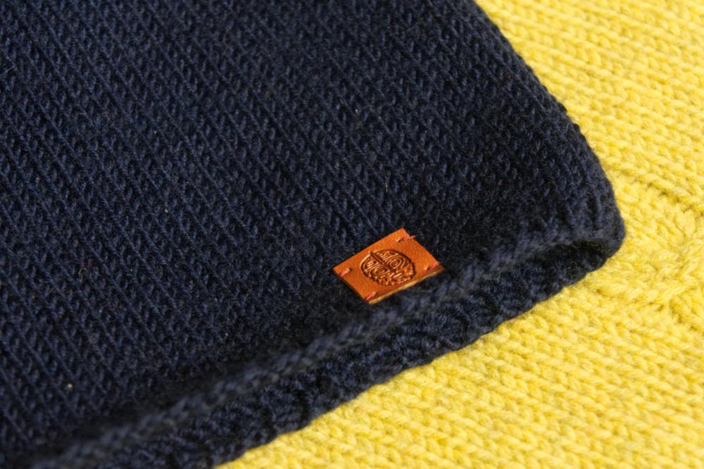 шапка суровый синяя