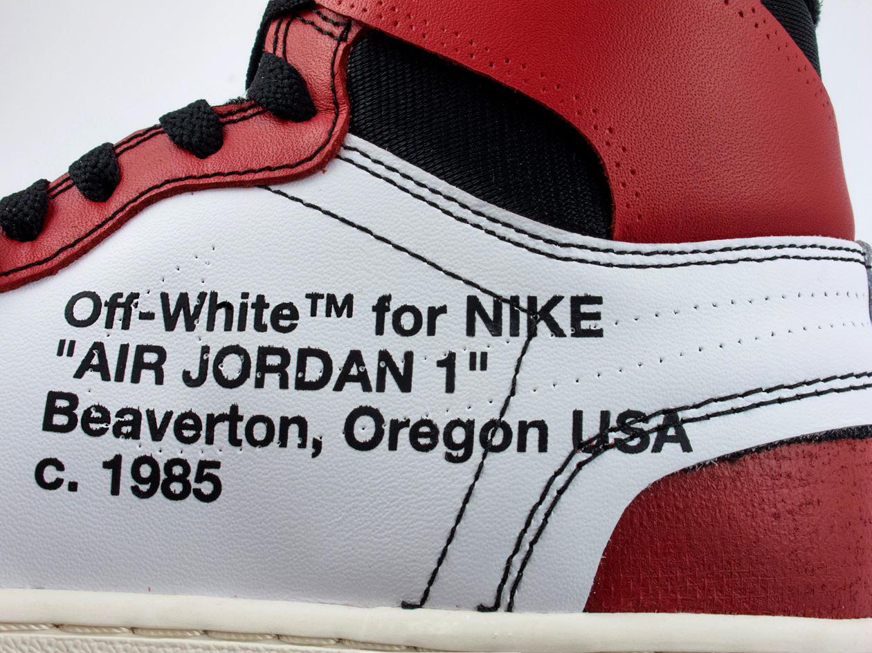 Оригинал или подделка? Nike Off White Air Jordan 1 Chicago