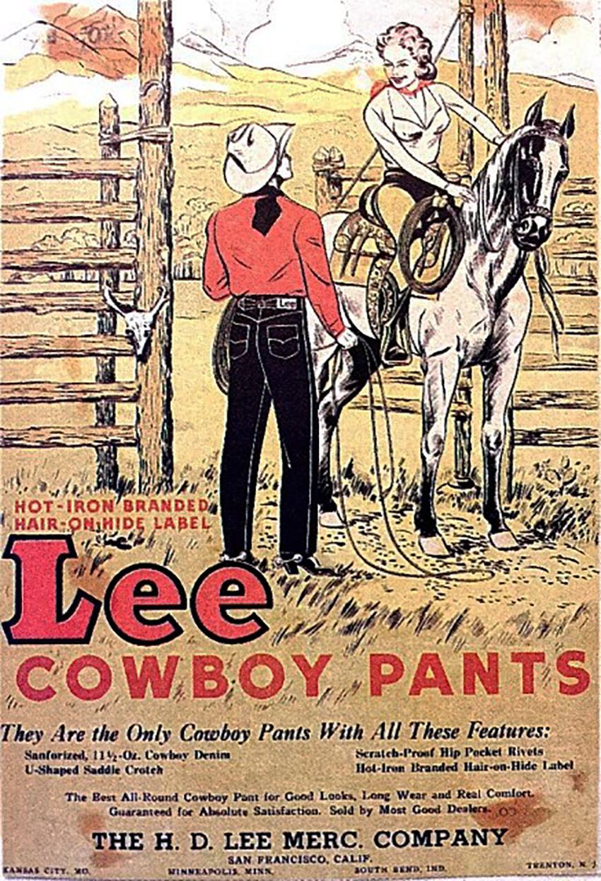 Ковбойские джинсы Lee