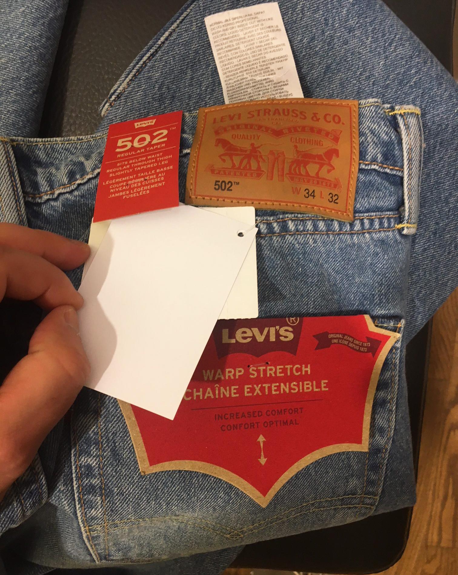 Levis 502 бирки