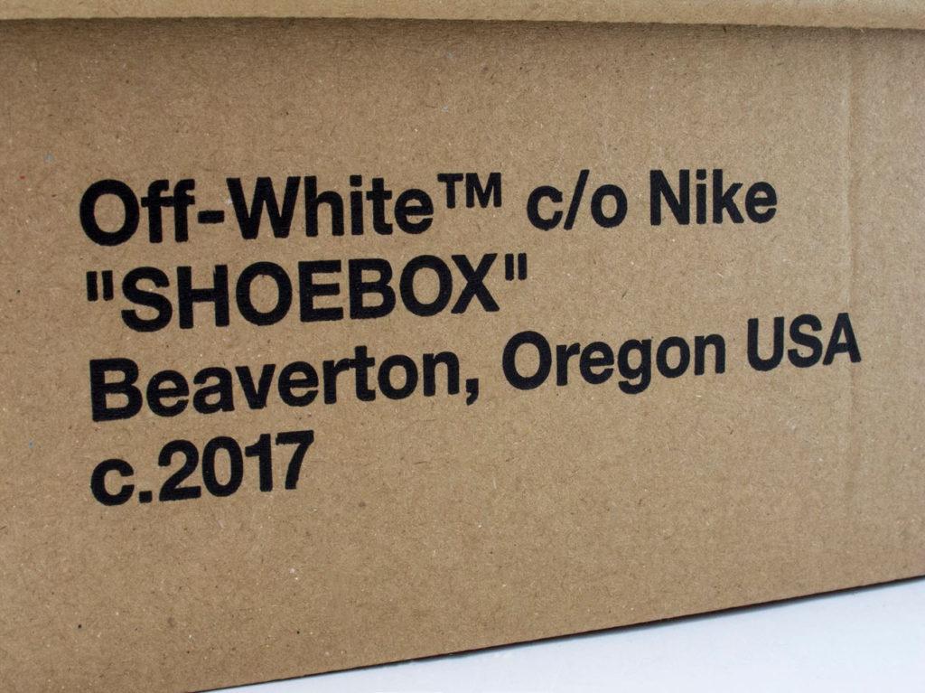 Nike Off-White надпись на коробке