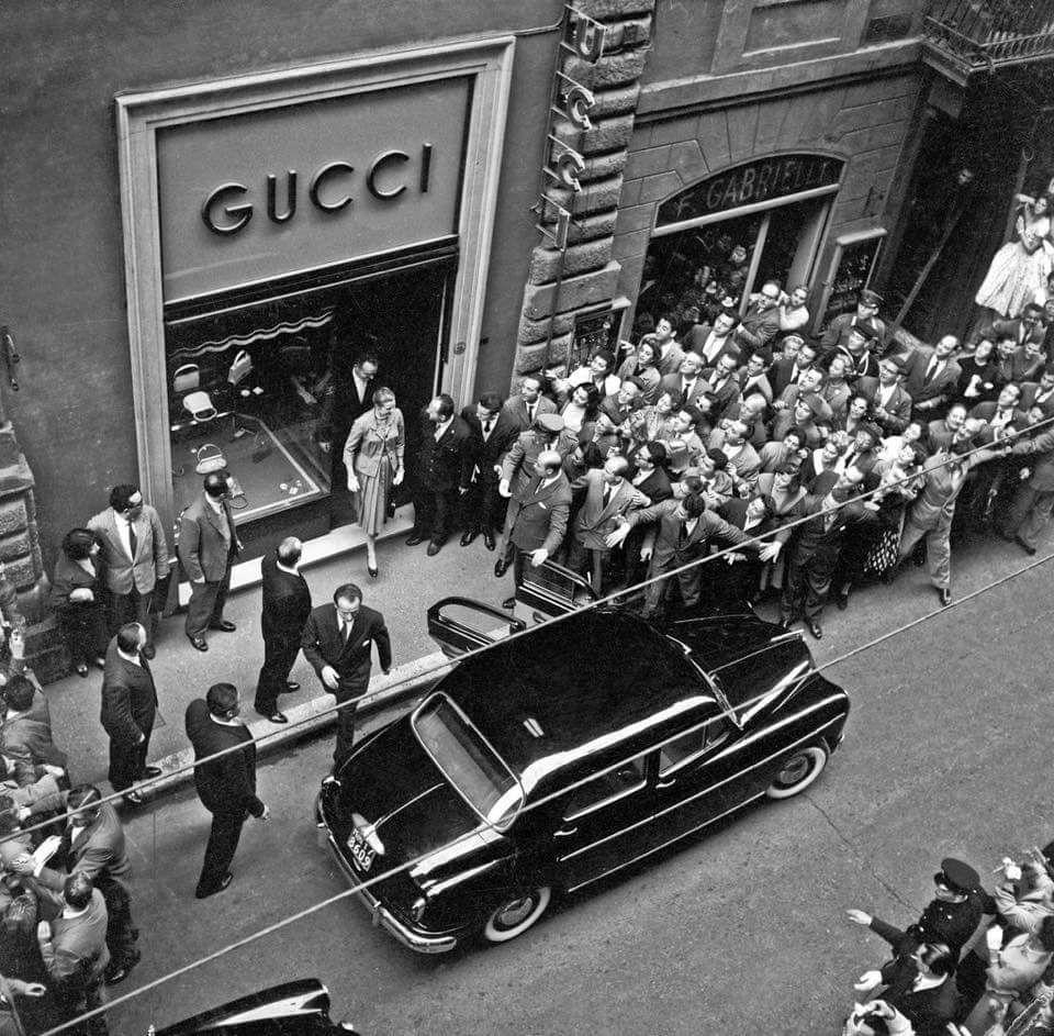 1953 гучи открытие магазина
