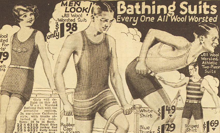 купальный костюм 1920s 2