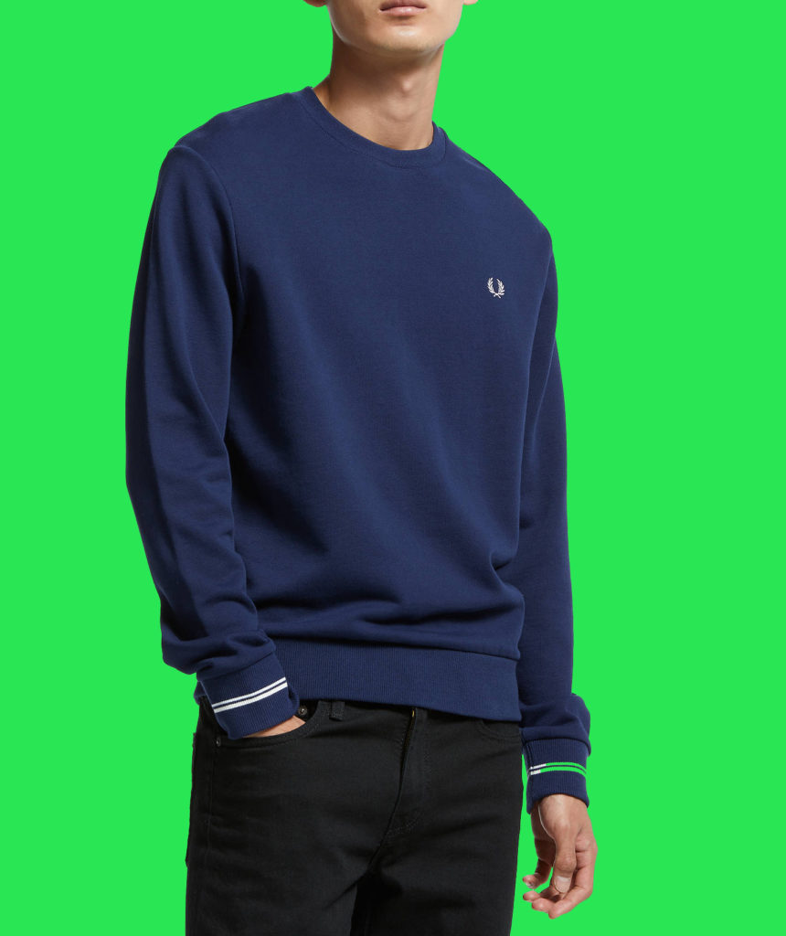 fred perry crew neck
