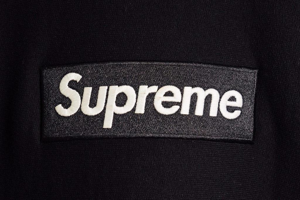supreme черное лого