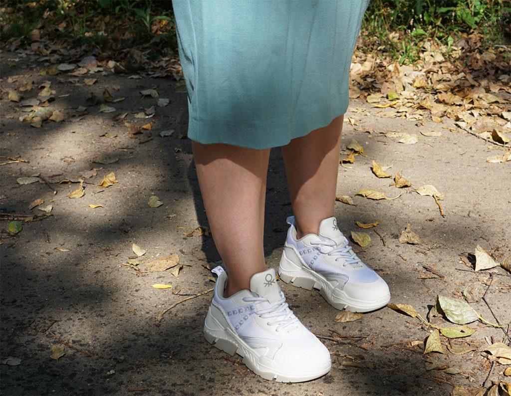 benetton кроссовки на ноге