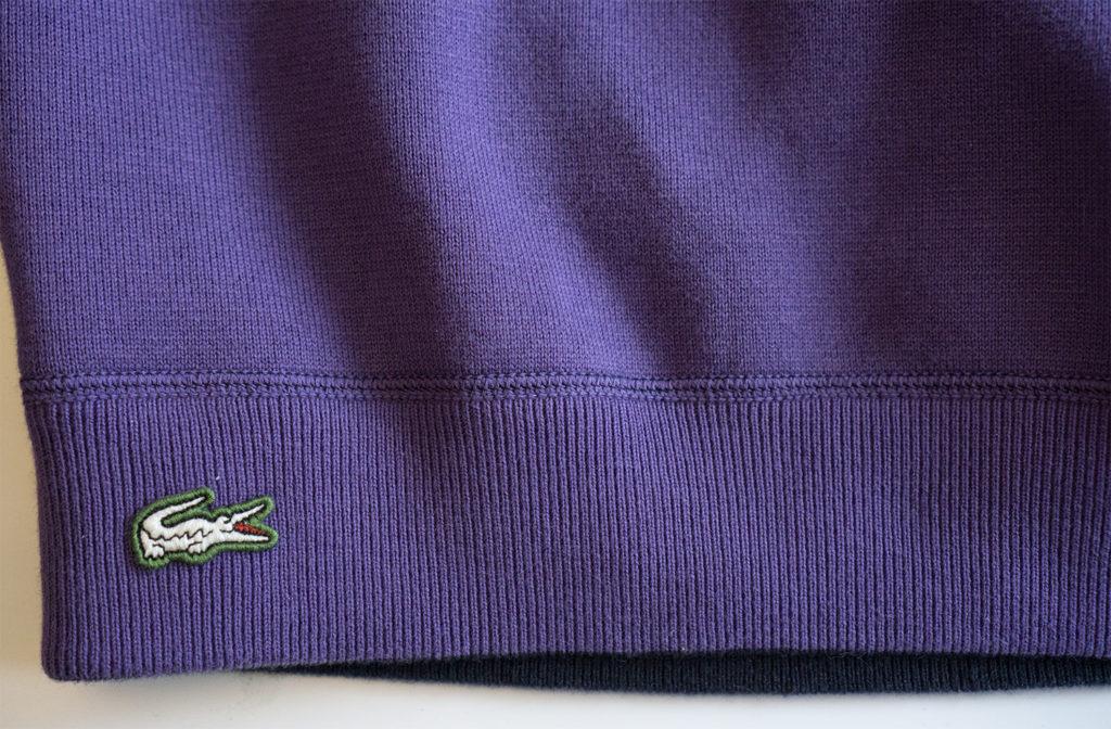 свитер lacoste logo фиолетовый