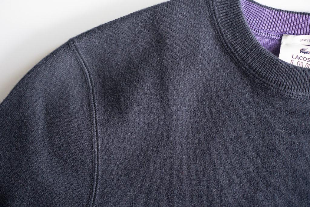 свитер lacoste синий швы